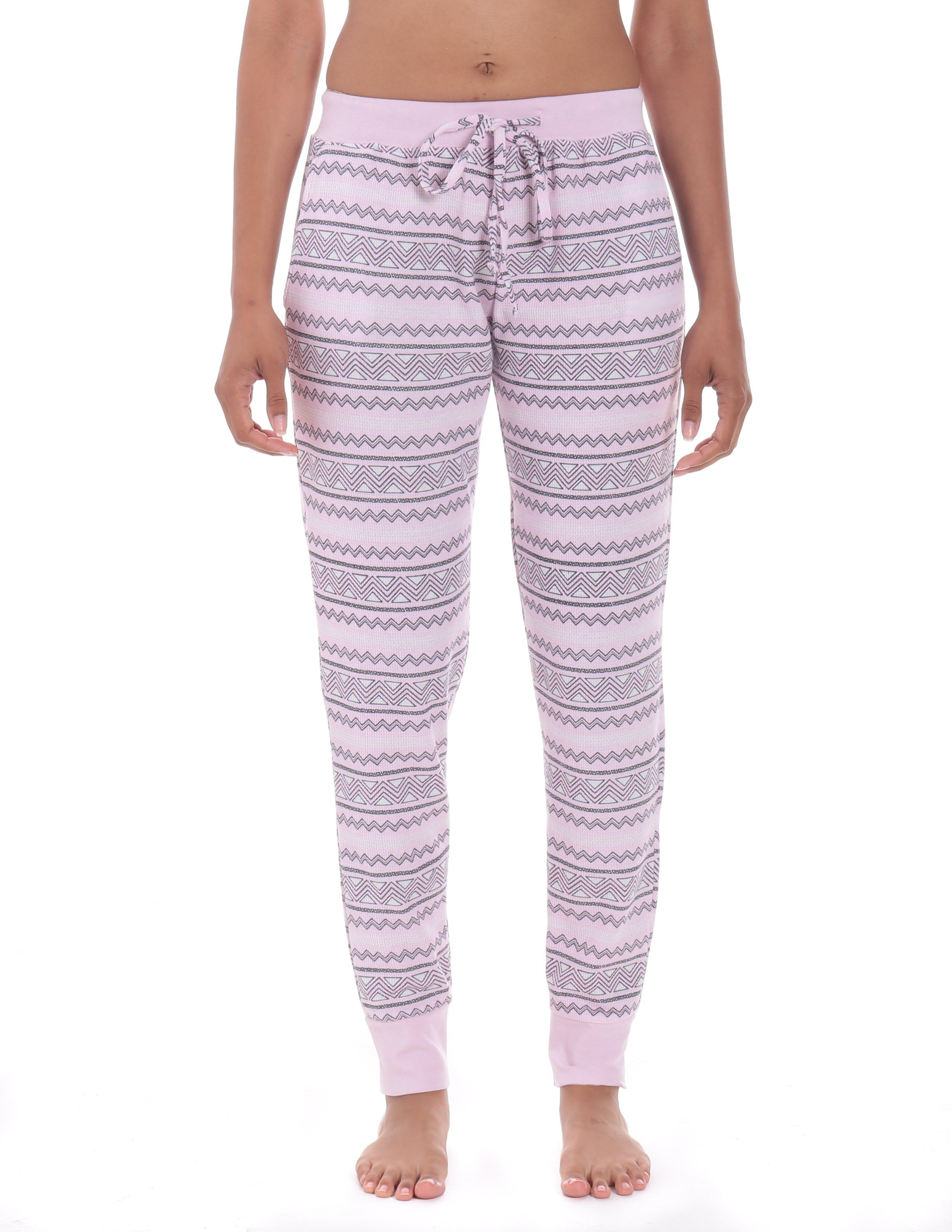 Women's Waffle Knit Thermal Jogger Lounge Pants