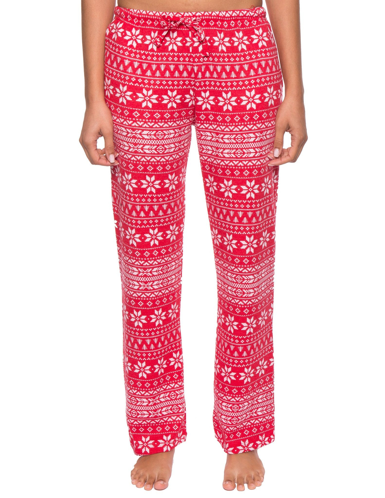 Women's Waffle Knit Thermal Lounge Pants