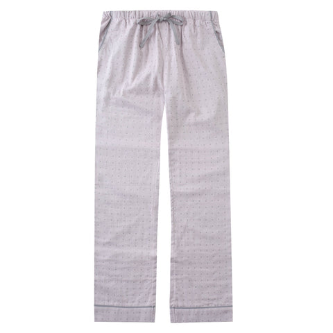 Womens Cotton Woven Double Layer Soft Lounge Pants