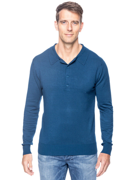 Box-Packaged Tocco Reale Men's Classic Knit Long Sleeve Polo Sweater