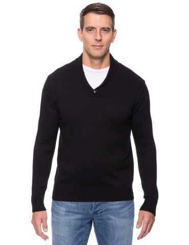 Tocco Reale Men's Cashmere Blend Shawl Collar Pullover Sweater