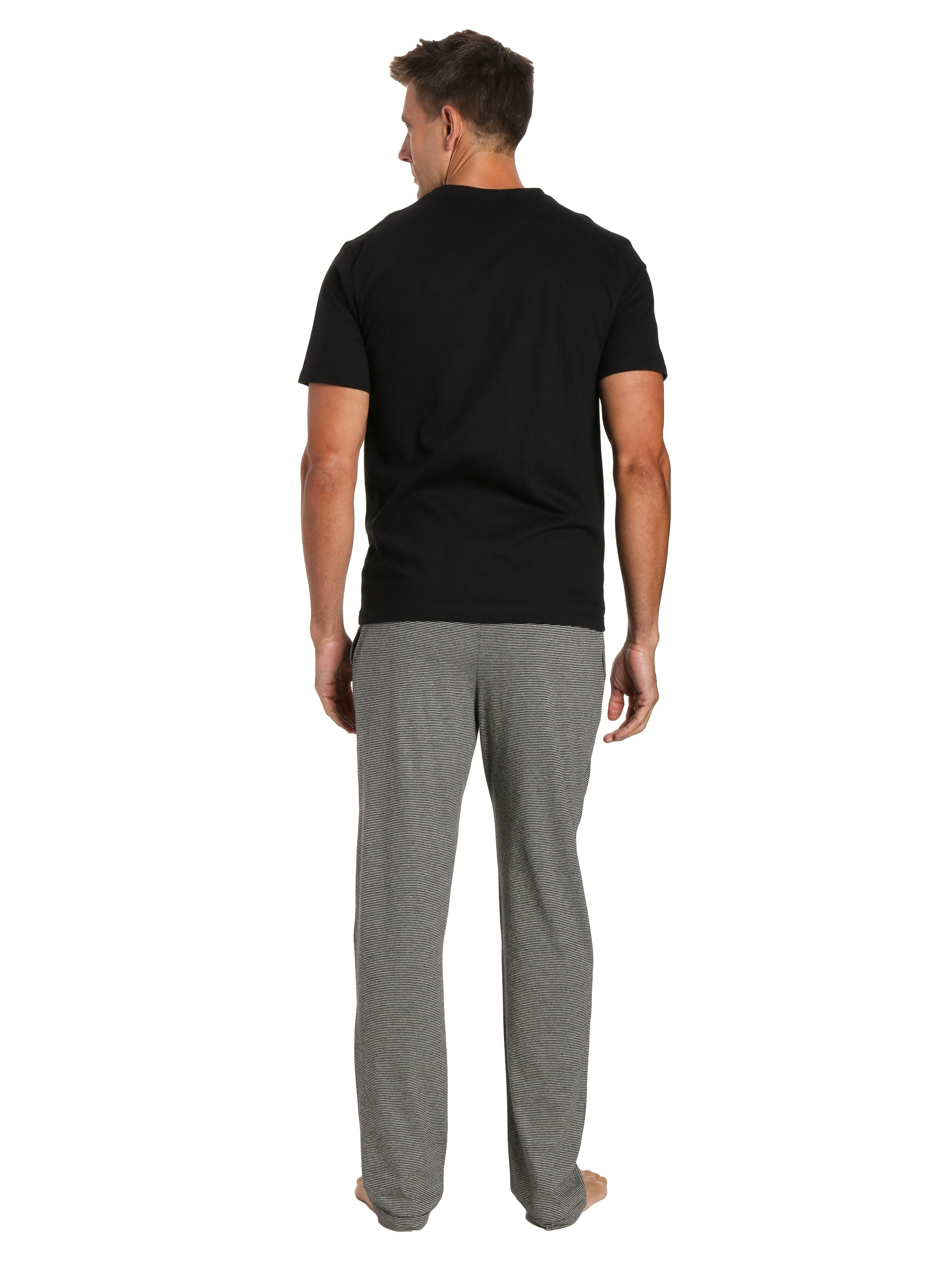 Stripe Gray Pant with Black Top
