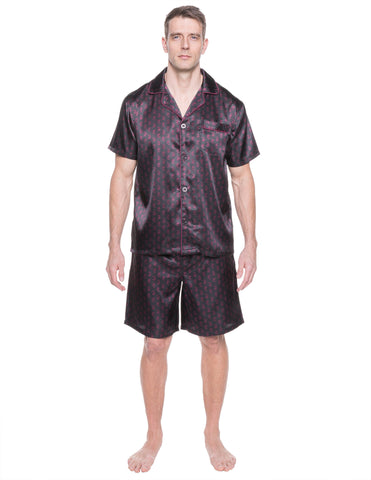 Mens Satin Short Sleepwear/Pajama Set