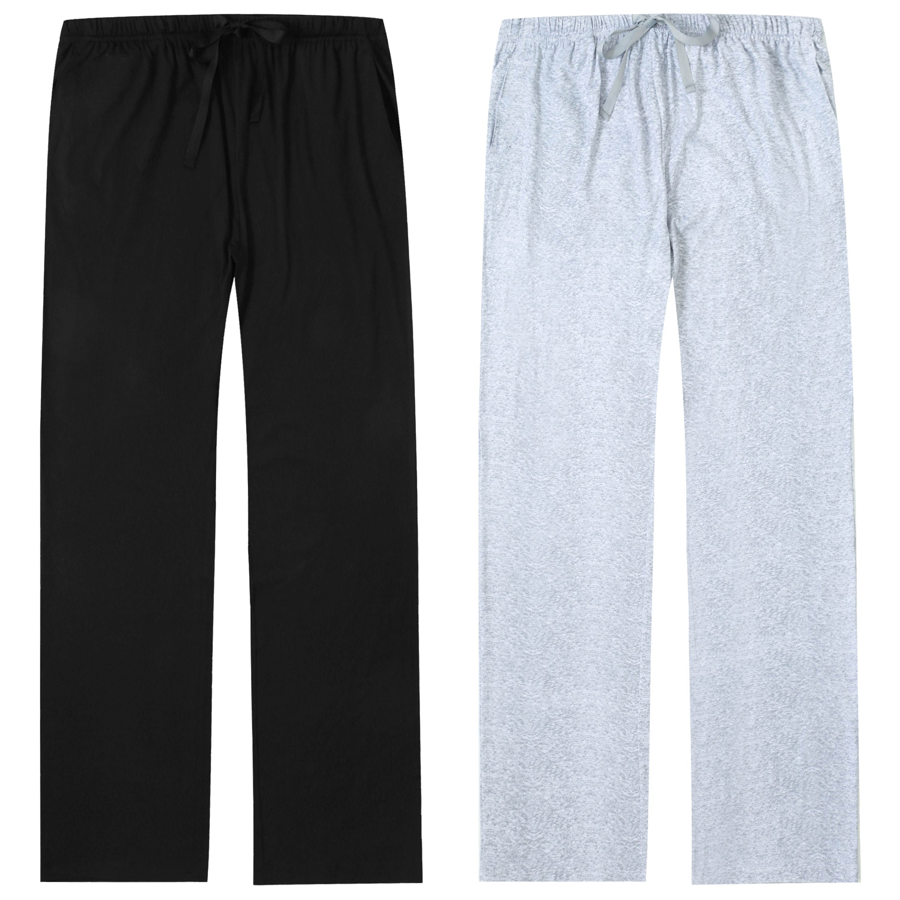 Pajama Pants for Women - 2Pack - Super Soft Knit & Stretchy Womens Pajama Pants