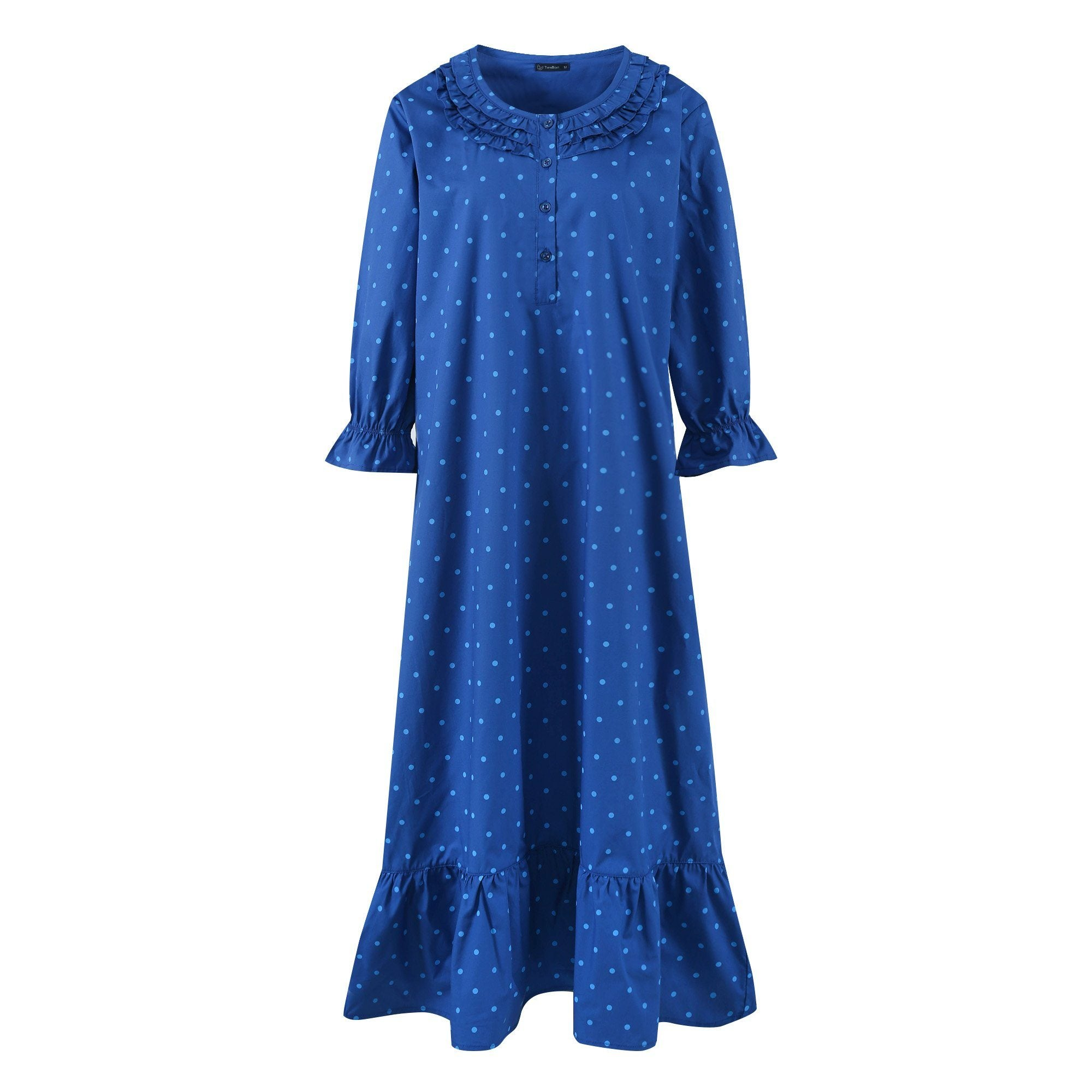 Women's Cotton Poplin Mid-Calf Gown
