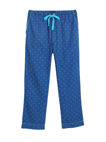 Womens 100% Cotton Poplin Lounge Pant