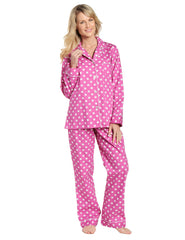 Womens 100% Cotton Poplin Pajama Set