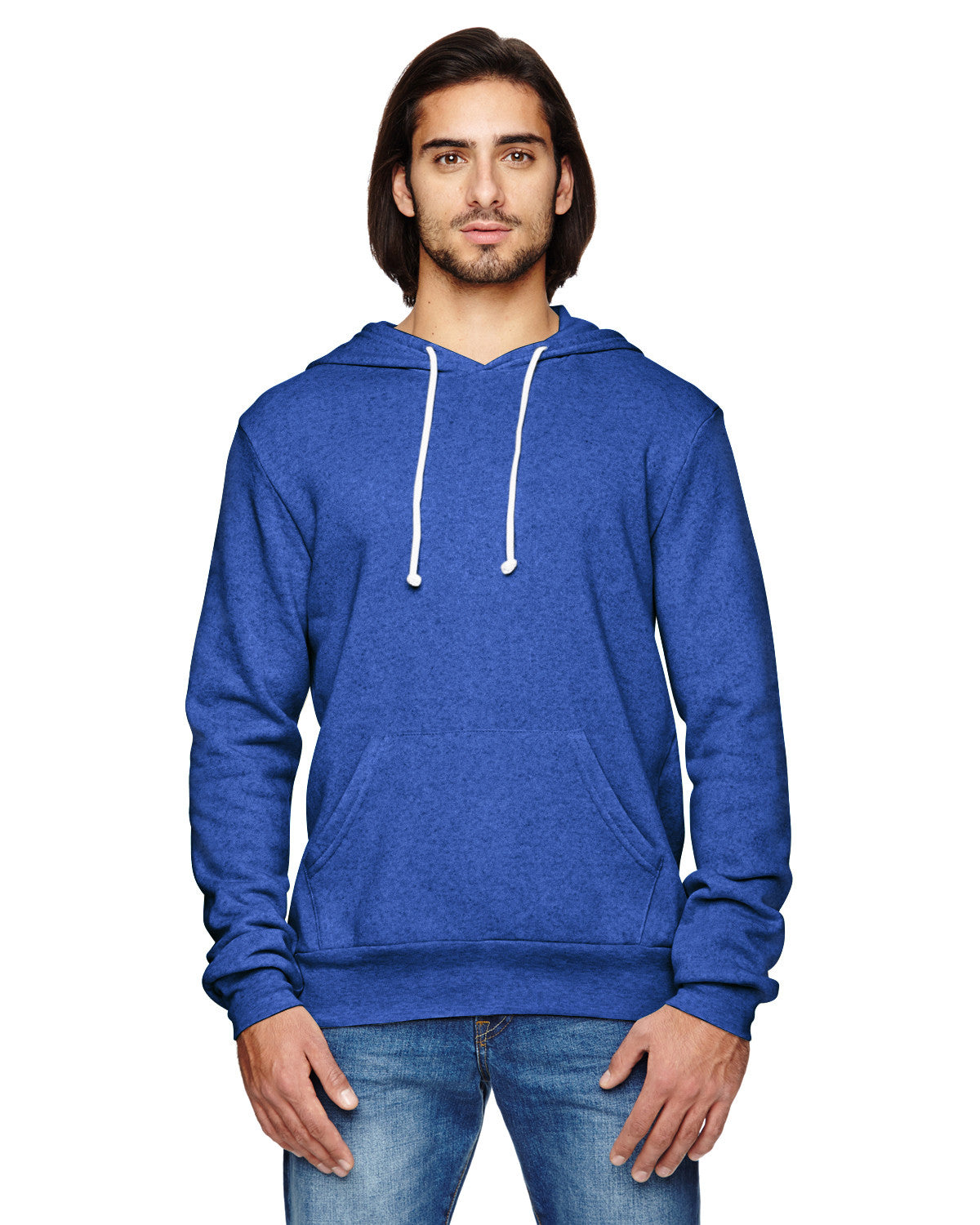 Alternative Men's Challenger Eco-Fleece Pullover Hoodie - Graphic Comfort  - 6