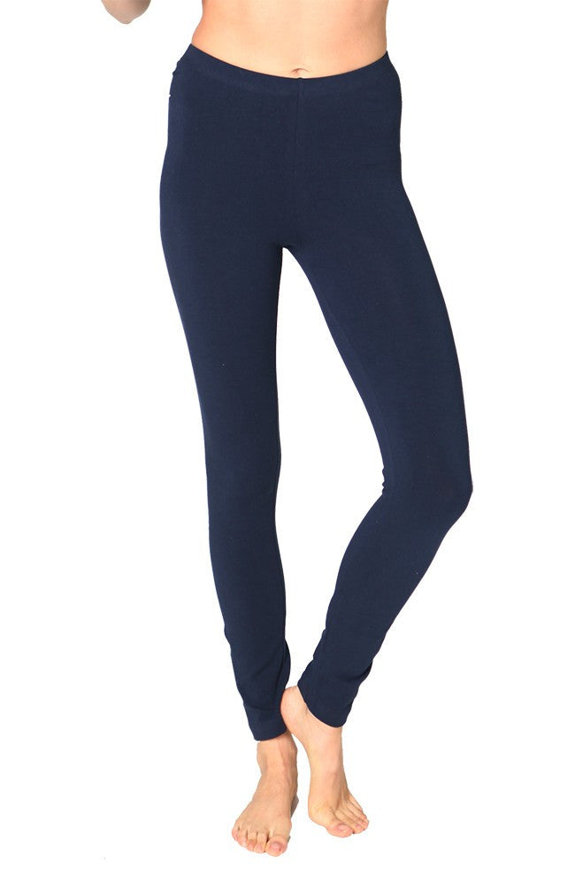 Ladies Combed Spandex Jersey Leggings