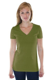 Royal Apparel Womens Hemp Organic V Neck - Graphic Comfort  - 3