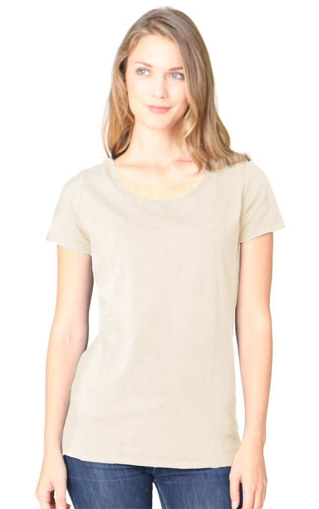 Royal Apparel Women's Bamboo Organic Scoop Neck Tee - Graphic Comfort  - 2