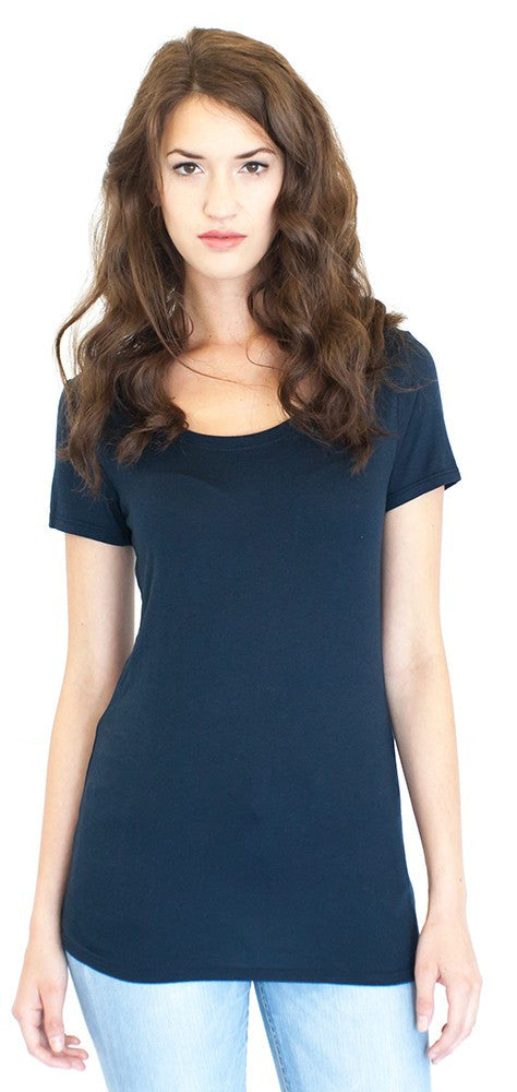 Royal Apparel Women's Bamboo Organic Scoop Neck Tee
