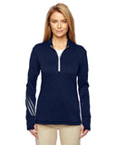 adidas Golf Ladies' Brushed Terry Heather Quarter-Zip - Graphic Comfort  - 2