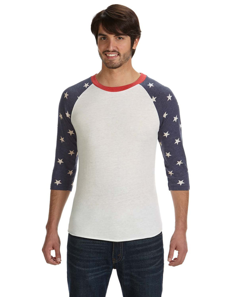 Patriotic Men's Baseball T-Shirt - Alternative