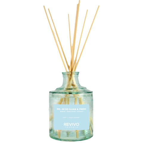Revivo Candela Reed Diffuser No 08 So Clean and Fresh
