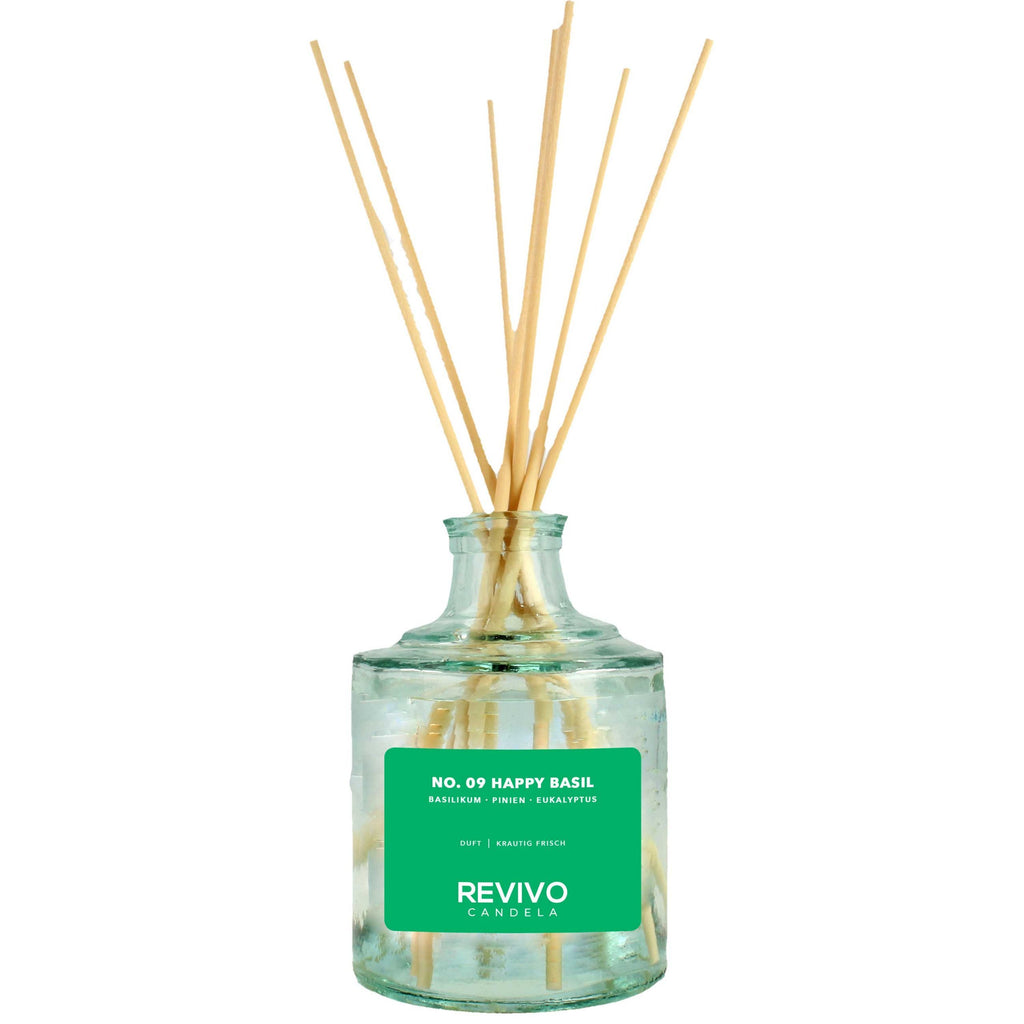 Revivo Candela Reed Diffuser No 09 Happy Basil