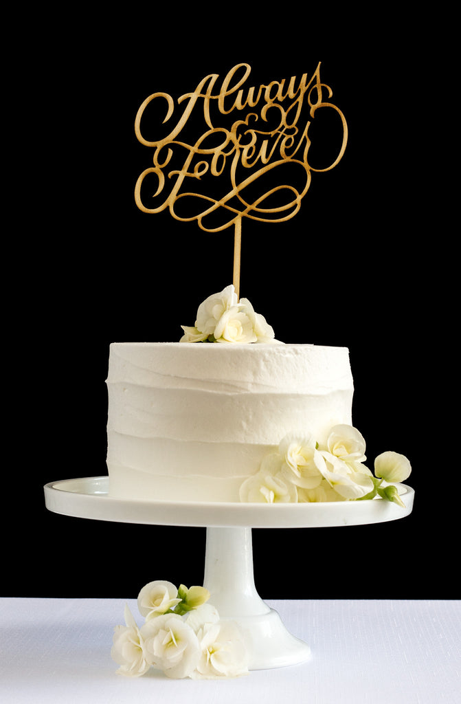 Always & Forever Cake Topper - Honey & Crisp