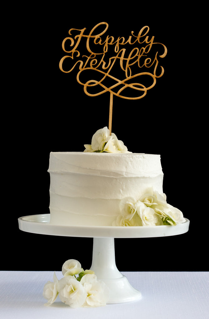 Happily Ever After Cake Topper - Honey & Crisp