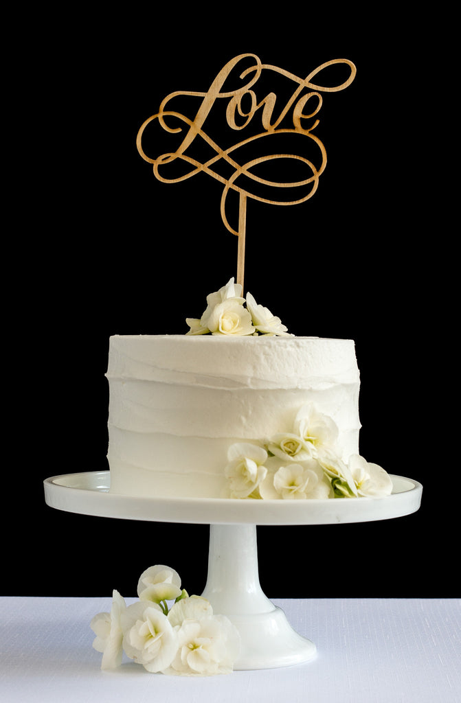 Love Cake Topper - Honey & Crisp