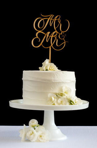 Mr & Mr Cake Topper - Honey & Crisp