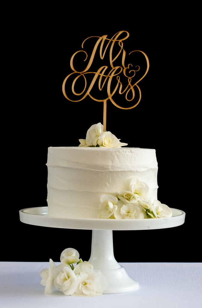 Mr & Mrs Cake Topper - Honey & Crisp