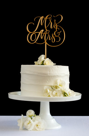 Mrs & Mrs Cake Topper - Honey & Crisp