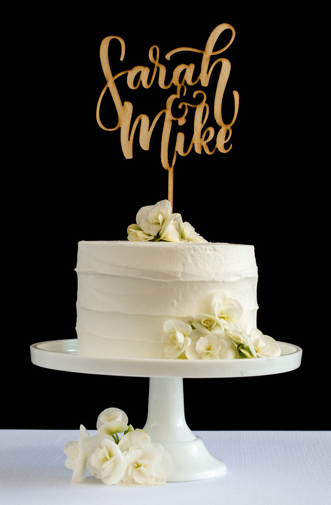 Custom First Name Cake Topper - Honey & Crisp