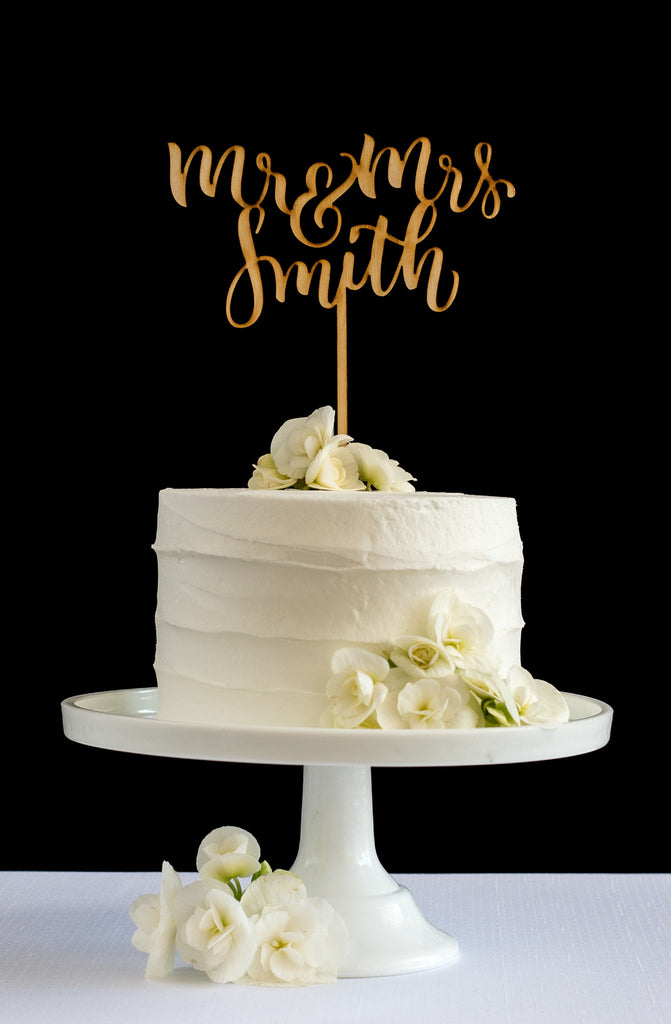 Custom Last Name Cake Topper - Honey & Crisp