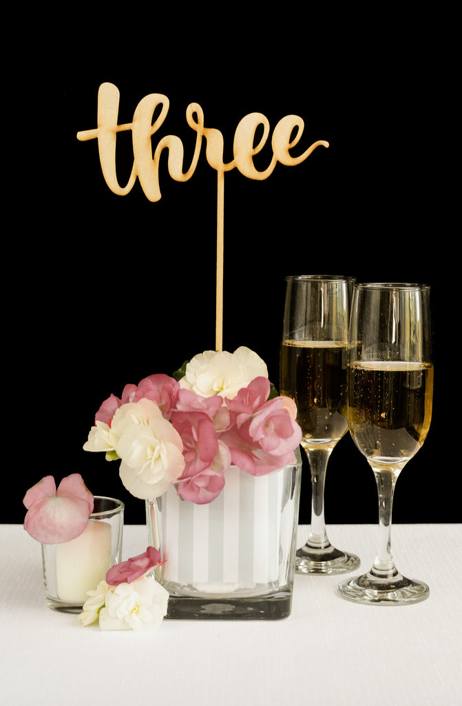 Wedding Table Numbers for Centerpieces