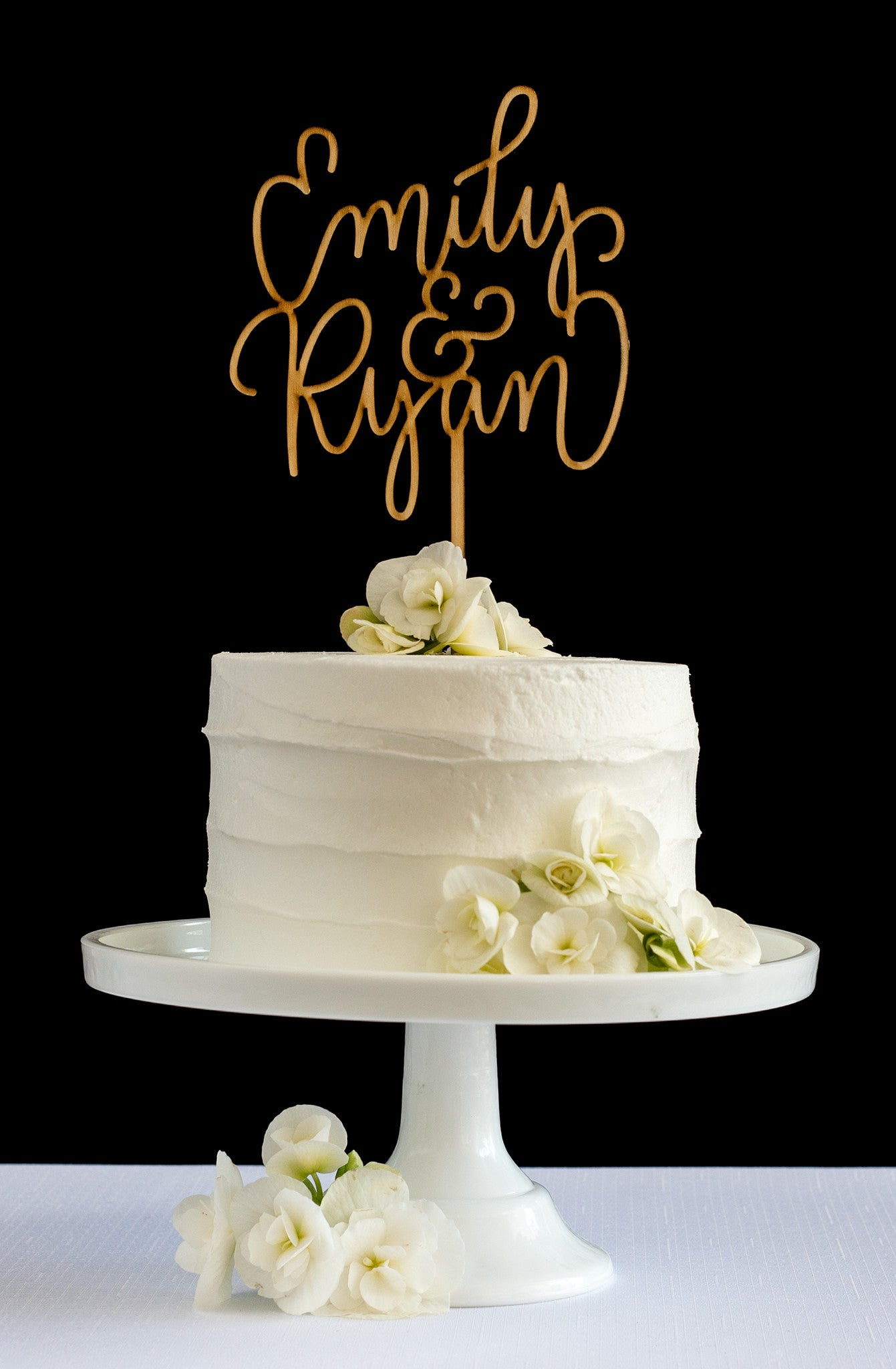 Simple Custom First Name Hand Lettered Cake Topper