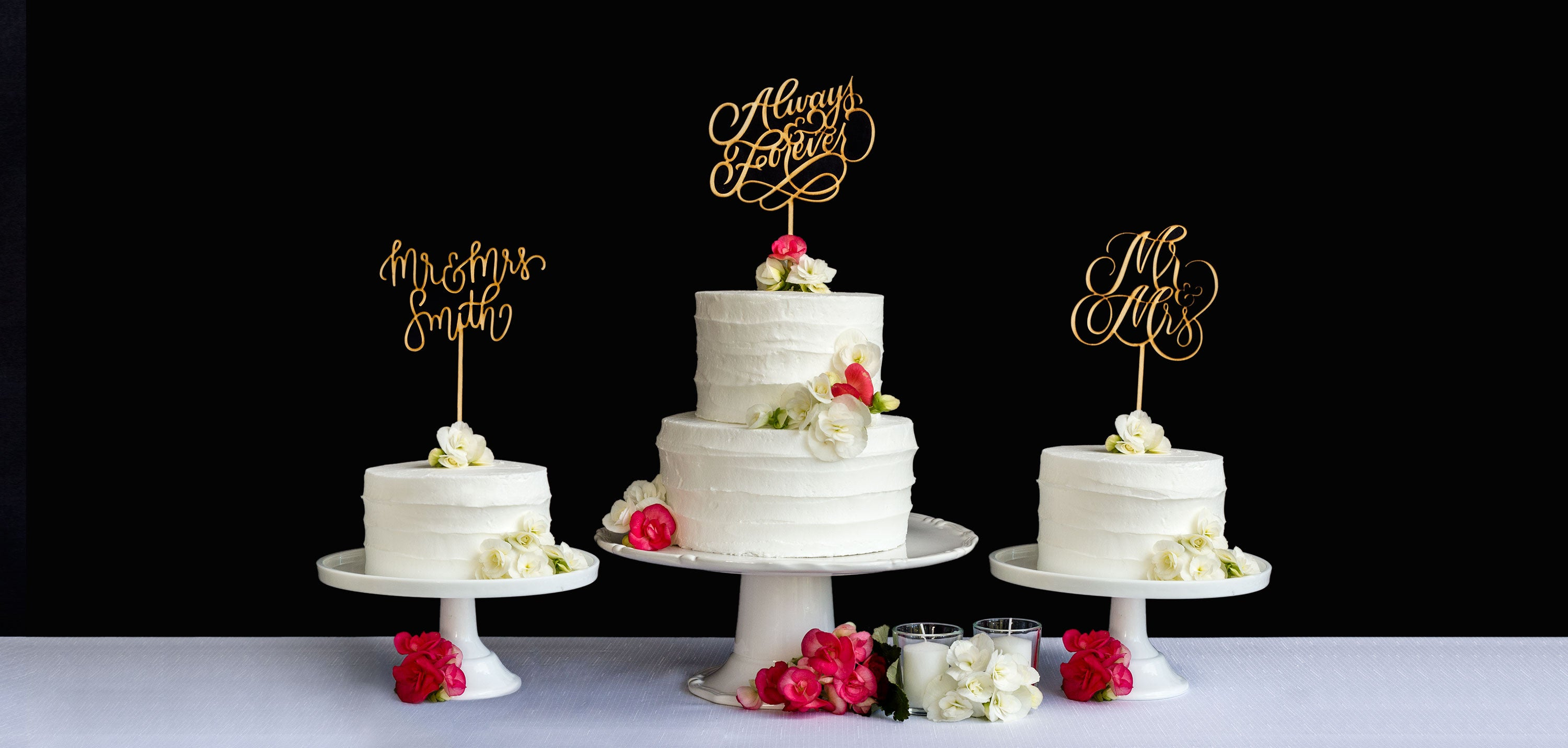 Honey & Crisp artisanal wedding cake toppers