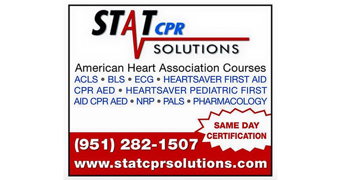 STAT CPR SOLUTIONS  ACLS, BLS, CPR, FIRST AID, AED, PALS, ECG, PHARM