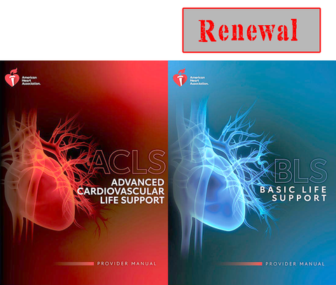 NEW ACLS with BLS FOR HEALTHCARE PROVIDERS RENEWAL