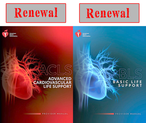 ACLS RENEWAL with BLS FOR HEALTHCARE PROVIDERS RENEWAL