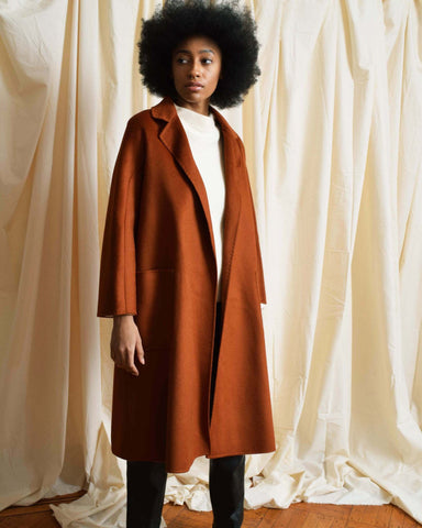 Vintage Brown Wool Overcoat