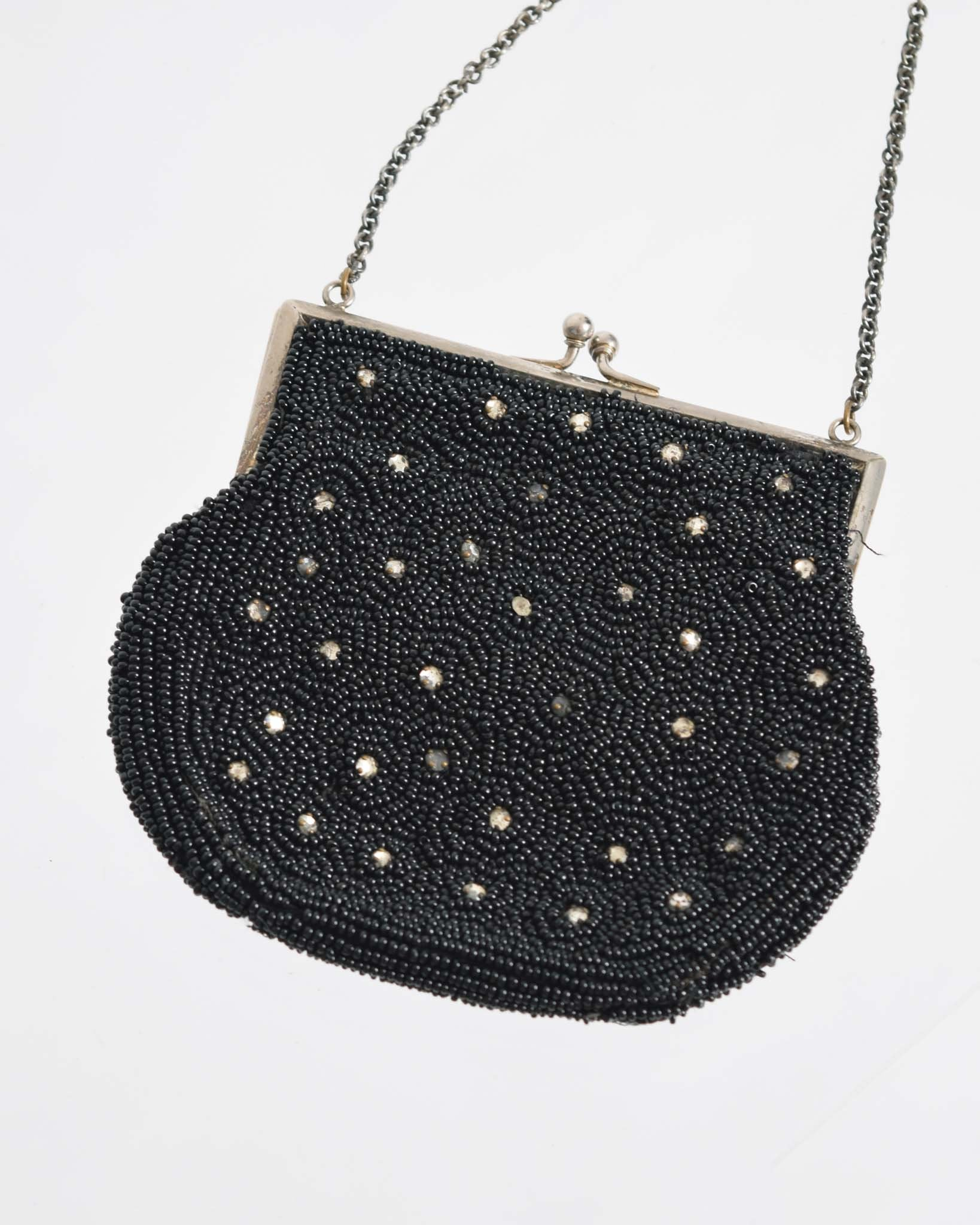 Vintage 1930s Beaded Evening Purse
