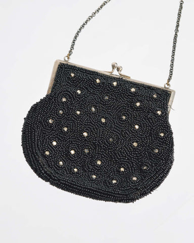 Vintage Black Pouch Purse