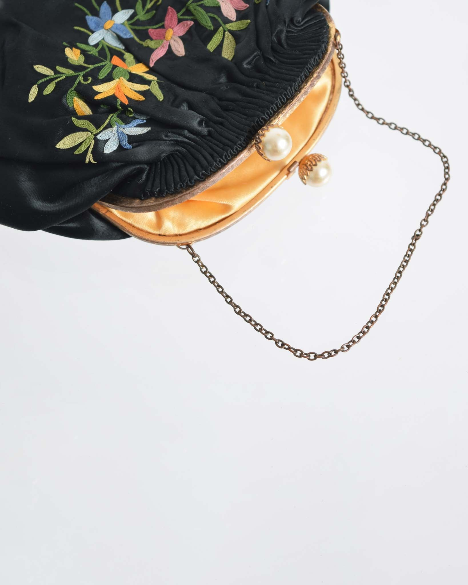 Vintage 1930s Crewel Evening Purse