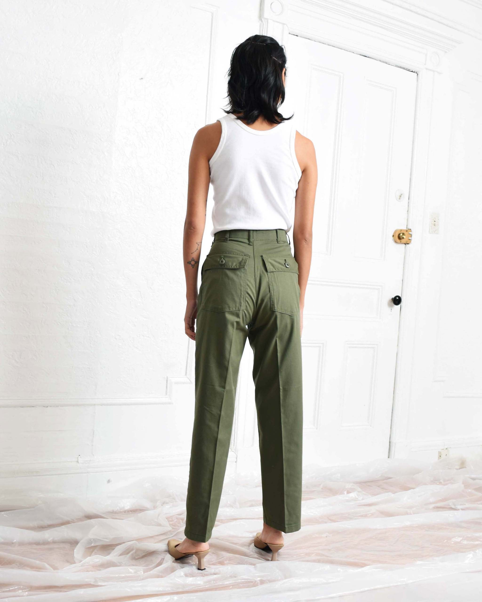 Vintage Olive Drab Trousers