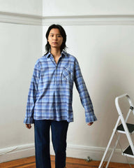 Vintage 1950s Blue Grandfather Shirt