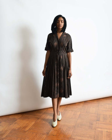 Vintage 1930s Burnout Velvet Dress