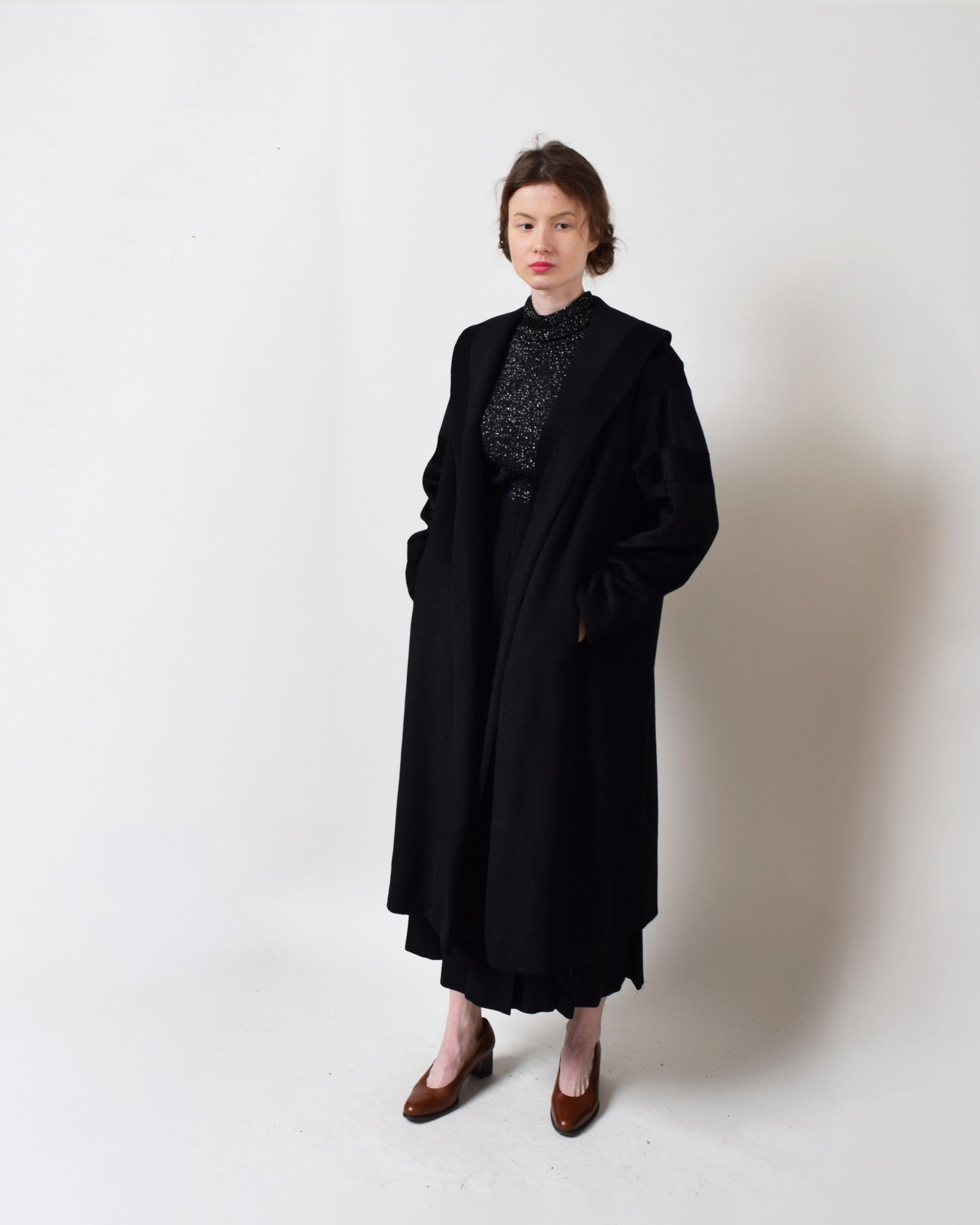 Vintage 1950s Chevron Swing Coat