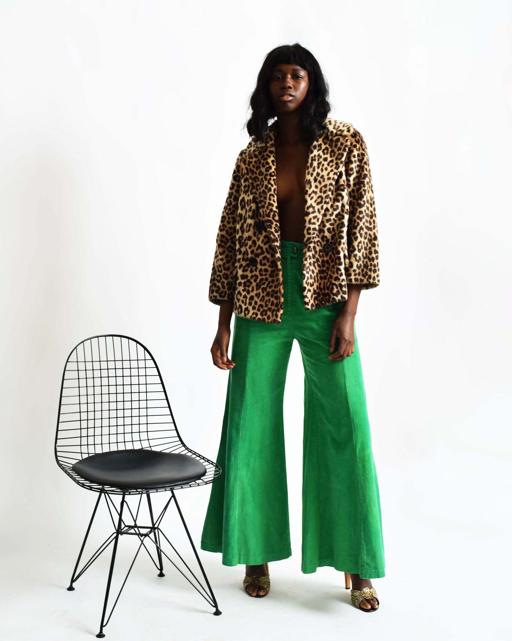 Vintage Leopard Car Coat