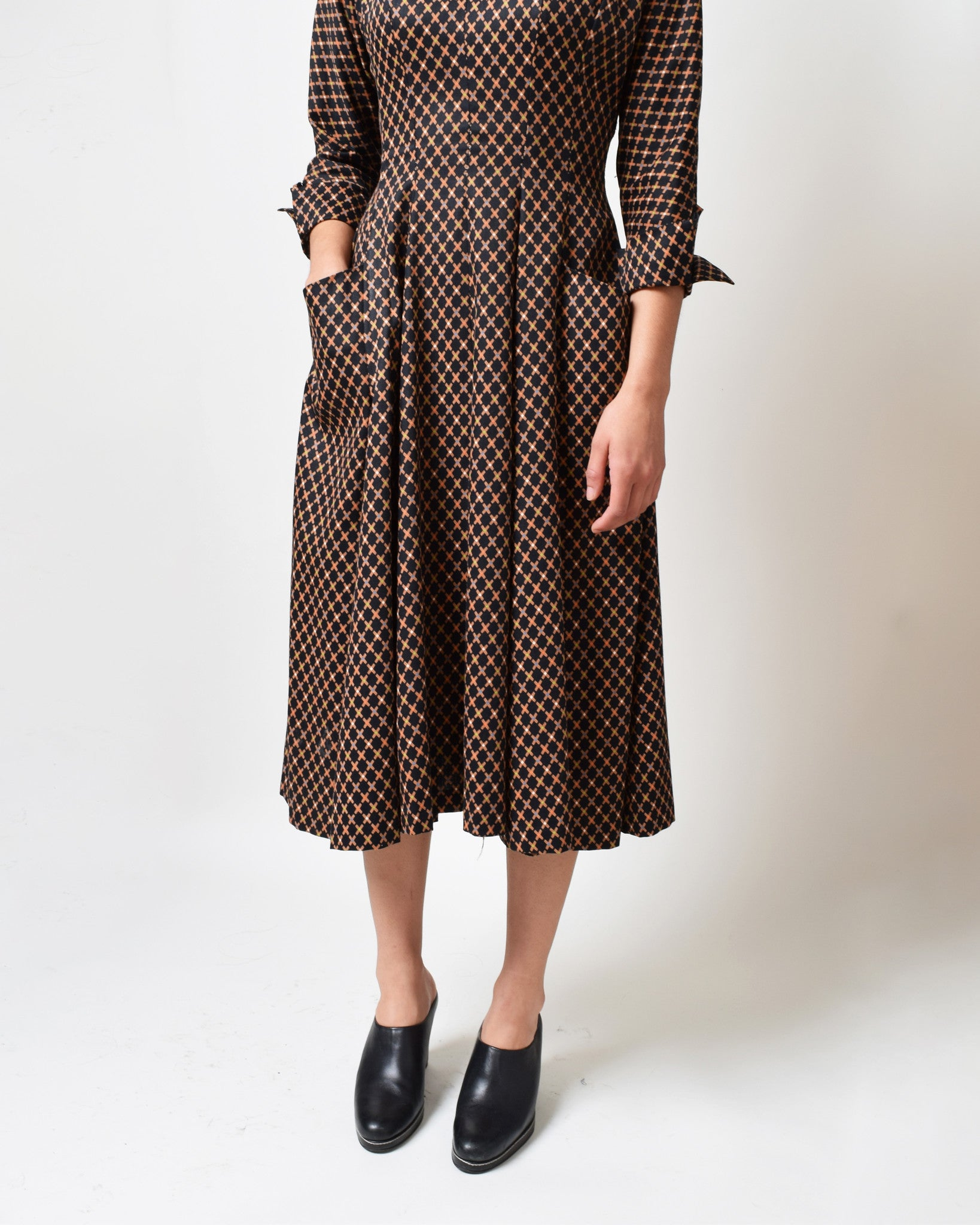 Vintage 1950s Murray Millman Shirtwaist Dress