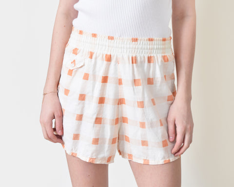 Vintage 1950s Orange Check Shorts