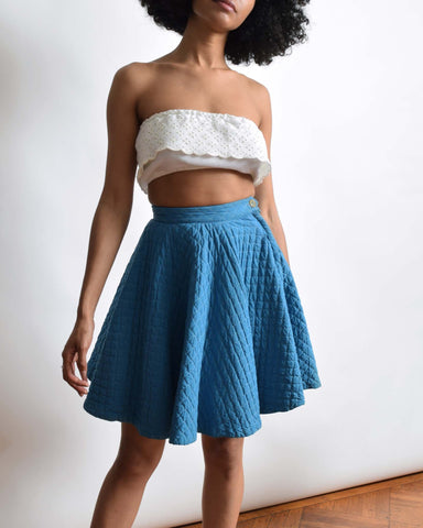 Vintage 1950s Quilted Circle Skirt