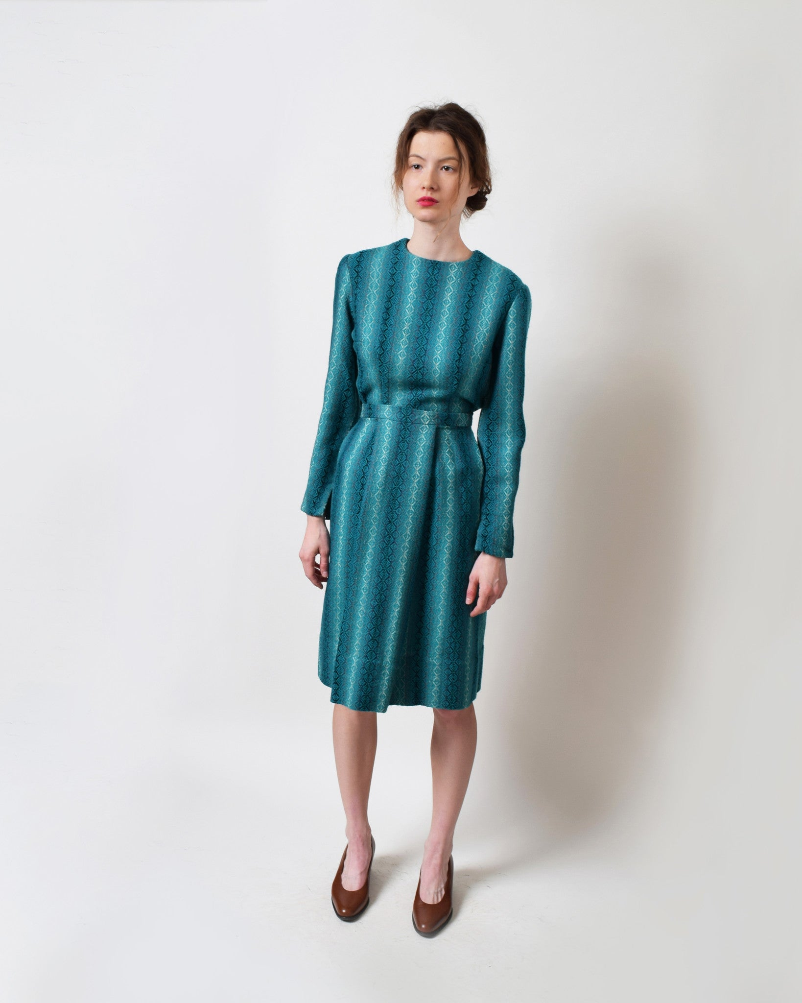 Vintage 1950s Teal Two Piece Set