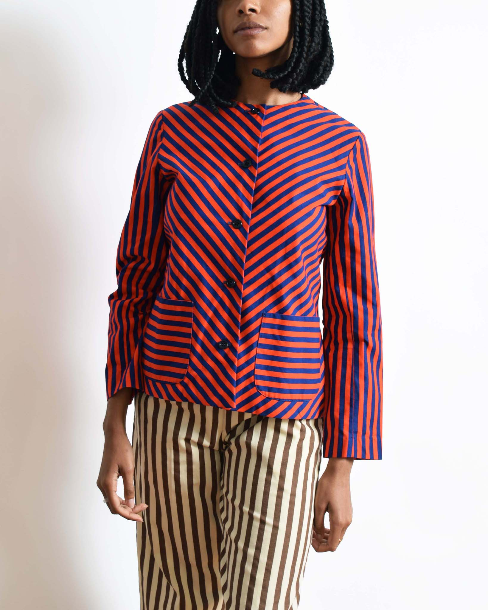 Vintage 1960s Chevron Stripe Jacket