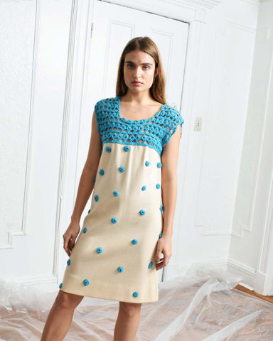 Vintage 1970s Polka Dot Dress