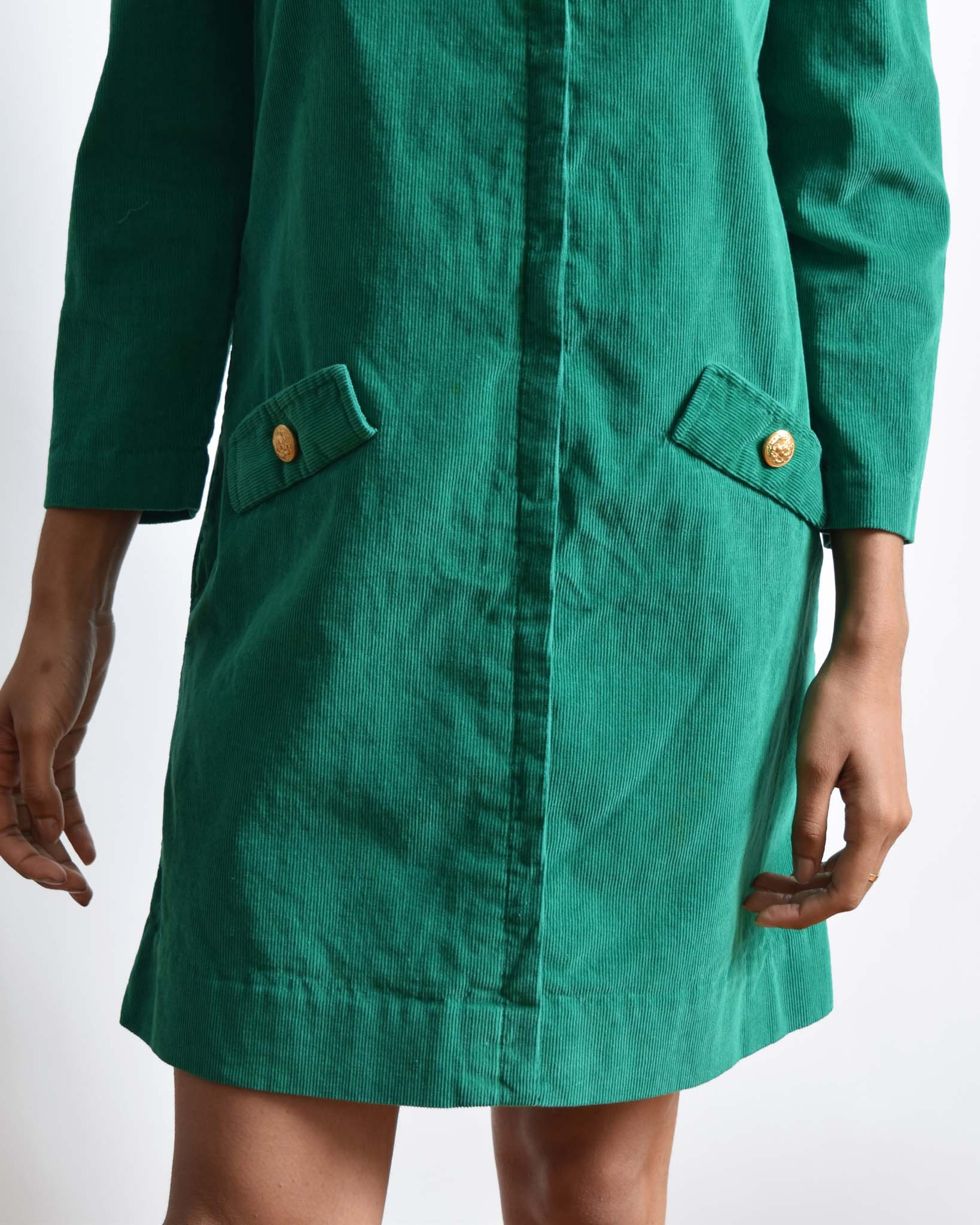 Vintage 1960s Corduroy Shift Dress